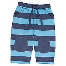 Buy Frugi Baby Striped Pull Up Organic Cotton Trousers, Cornish Blue Online at johnlewis.com