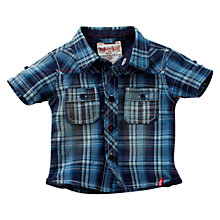 Buy Levi's Cole Short Sleeved Checked Shirt, Blue Online at johnlewis.com