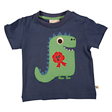 Buy Frugi Baby Best in Show Dinosaur Organic Cotton T-Shirt, Navy Online at johnlewis.com