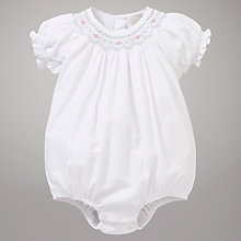 Buy John Lewis Baby Heritage Romper, White Online at johnlewis.com
