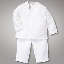 Buy John Lewis Heritage Shirt and Shorts Set, White Online at johnlewis.com