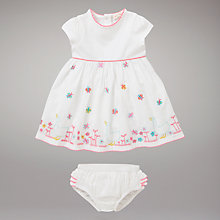 Buy John Lewis Baby Butterfly Dress, White Online at johnlewis.com