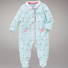 Buy John Lewis Baby Geese Sleepsuit, Blue Online at johnlewis.com