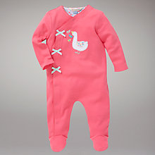 Buy John Lewis Baby Goose Sleepsuit, Pink Online at johnlewis.com