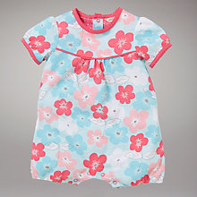 Buy John Lewis Baby Pansy Romper, Multi Online at johnlewis.com