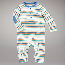 Buy John Lewis Baby Striped Sleepsuit, Multi Online at johnlewis.com