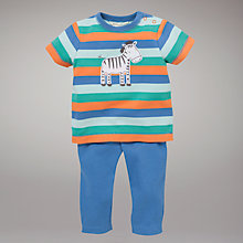 Buy John Lewis Baby Zebra Top and Trouser Set, Multi Online at johnlewis.com