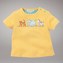 Buy John Lewis Baby Safari Top, Yellow Online at johnlewis.com