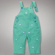 Buy John Lewis Baby Elephant Dungarees, Green Online at johnlewis.com