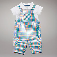 Buy John Lewis Baby Dungarees and Bodysuit Set, Brights Online at johnlewis.com
