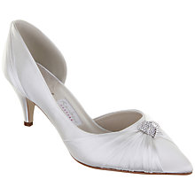 Buy Rainbow Club Pisarro Diamante Knot Satin Point Toe Court Shoes, Ivory Online at johnlewis.com