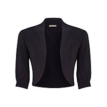 Buy Planet Rib Detail Shrug, Black Online at johnlewis.com