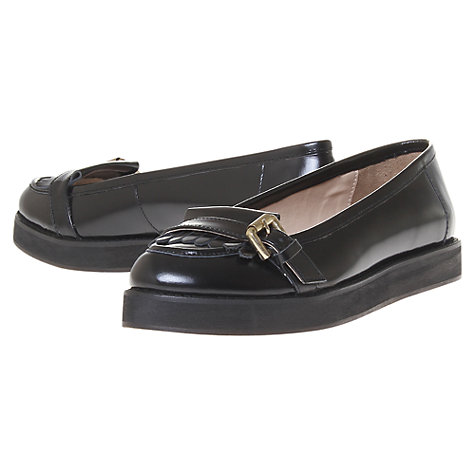 Buy KG by Kurt Geiger Allanah Leather Flatform Loafers Online at johnlewis.com