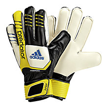 Buy Adidas Predator Junior Fingersave Goalkeeper Gloves, Black/Yellow Online at johnlewis.com