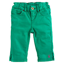 Buy Little Joule Frankie Cropped Jeans, Emerald Online at johnlewis.com