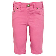 Buy Little Joule Frankie Cropped Jeans, Pink Online at johnlewis.com