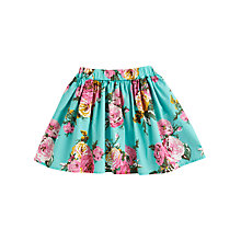 Buy Little Joule Ramona Skirt, Aqua Online at johnlewis.com