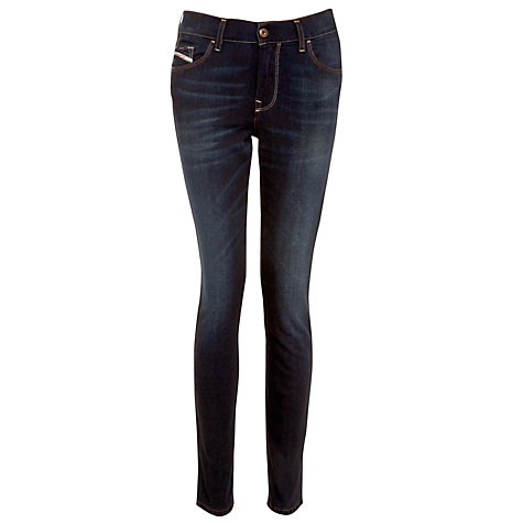 Buy Diesel Hi-Vy High Rise Skinny Jeans, Indigo Online at johnlewis.com