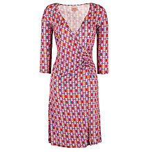 Buy Avoca Anthology Eglantine Printed Wrap Dress, Peony Online at johnlewis.com