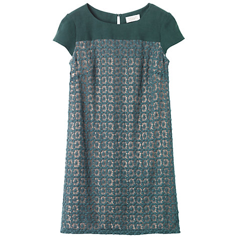 Buy Toast Genevieve Crochet Lace Dress, Pine Needle Online at johnlewis.com