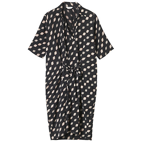 Buy Toast Martha Ikat Print Dress, Green/Black Online at johnlewis.com