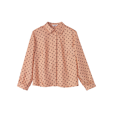 Buy Toast Polka Dot Blouse, Blush Cocoa Online at johnlewis.com