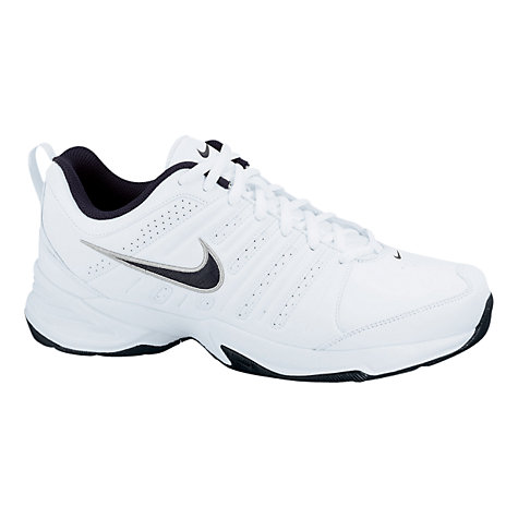 Buy Nike T-Lite Trainers, White/Grey Online at johnlewis.com