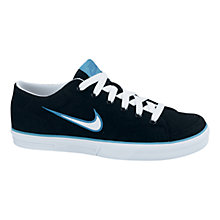 Buy Nike Capri Canvas Trainers, Black/White/Blue Online at johnlewis.com