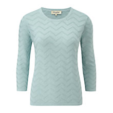 Buy Viyella Zig Zag Jumper, Eau de Nil Online at johnlewis.com