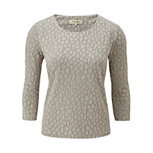 Buy Viyella Textured Jersey Top, Gold Online at johnlewis.com