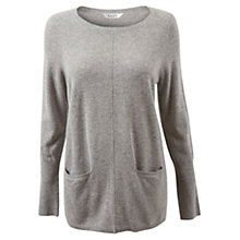 Buy East Pocket Oversized Jumper, Silver Grey Online at johnlewis.com