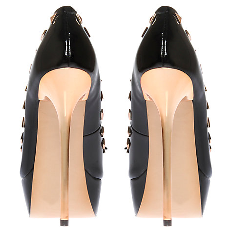 Buy Carvela Gwendolyn Stud Detail Peep-Toe Platform Shoes Online at johnlewis.com