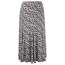 Buy Viyella Brush Stroke Jersey Print Skirt, Multi Online at johnlewis.com
