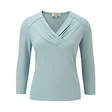 Buy Viyella Crepe Jersey Top, Eau de Nil Online at johnlewis.com