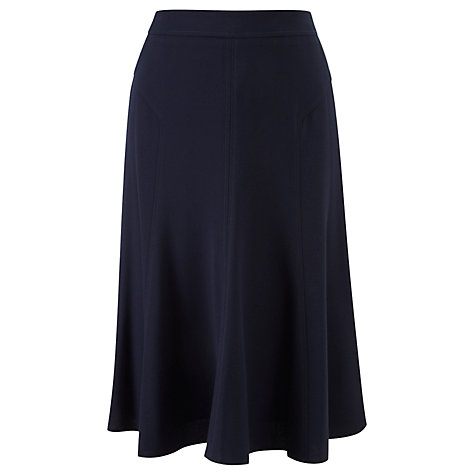 Buy Viyella Petite Crepe Skirt, Navy Online at johnlewis.com