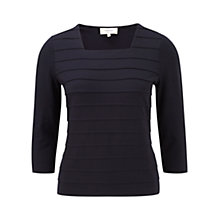 Buy Viyella Petite Jersey Top, Navy Online at johnlewis.com