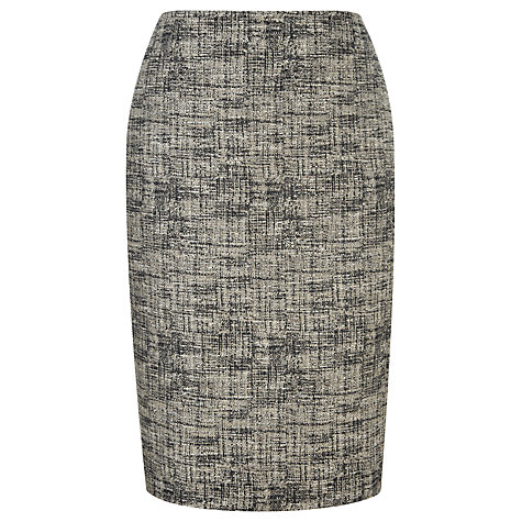 Buy Viyella Tweed Pencil Skirt, Stone Online at johnlewis.com