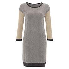 Buy NW3 Cable Knitted Dress, Marzipan/Multi Online at johnlewis.com