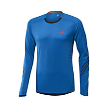 Buy Adidas Supernova Long Sleeve T-Shirt, Blue Online at johnlewis.com