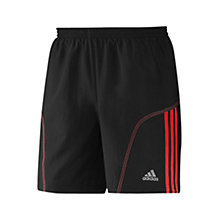 "Buy Adidas Response DS 7"" Baggy Shorts, Black/Vivid Red Online at johnlewis.com"