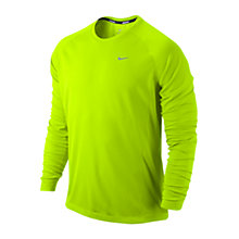 Buy Nike Miler Long Sleeve Top, Volt Online at johnlewis.com