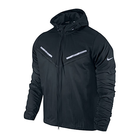 Buy Nike Cyclone Running Jacket, Black Online at johnlewis.com