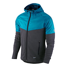 Buy Nike Fanatic Running Hoodie, Black/Turquoise Online at johnlewis.com