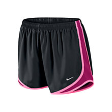 Buy Nike Women's Tempo Running Shorts, Black/Pink Online at johnlewis.com