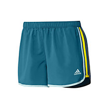 Buy Adidas Marathon 10 Shorts, Vivid Teal/Vivid Yellow Online at johnlewis.com