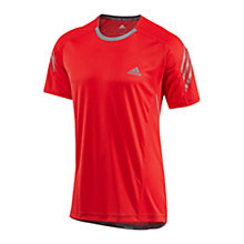 Buy Adidas Supernova Short Sleeve T-Shirt, Vivid Red/Tech Grey Online at johnlewis.com