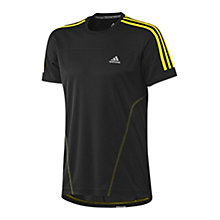 Buy Adidas Response Short Sleeve T-Shirt , Black/Yellow Online at johnlewis.com