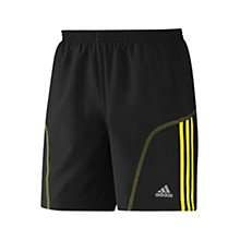 "Buy Adidas Response 7"" Shorts, Black/Yellow Online at johnlewis.com"