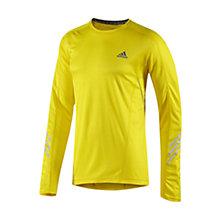 Buy Adidas Supernova Long Sleeve T-Shirt, Yellow/Grey Online at johnlewis.com