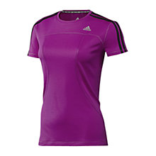Buy Adidas Response DS T-Shirt, Vivid Pink Online at johnlewis.com